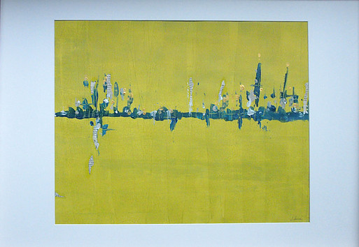 Paysage abstrait moutarde