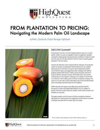 White Paper: From Plantation to Pricing: Navigating the Modern Palm Oil Landscape
