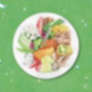 美味しいイラスト,食べ物のイラスト,おしゃれな水彩画,