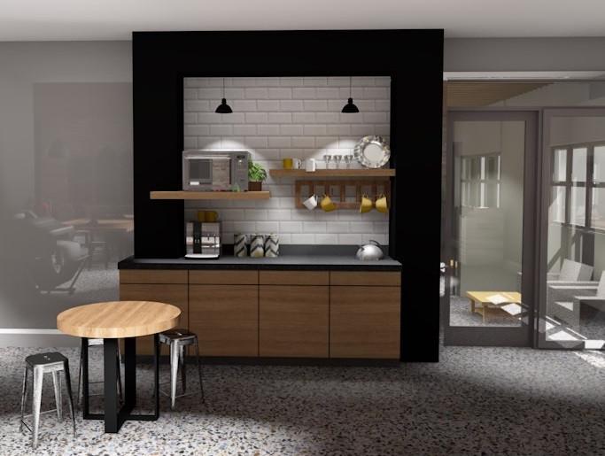 3D coffee bar concept