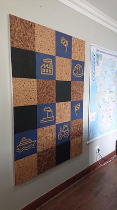 Customised Cork pin board