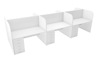 Sienna Double Row Cubicle