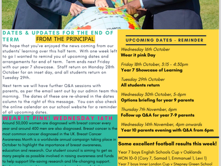 11th October 2019 - IAG Weekly Newsletter