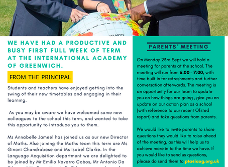 13th September 2019 - IAG Weekly Newsletter