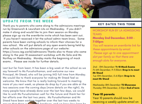 29th November - IAG Weekly Newsletter