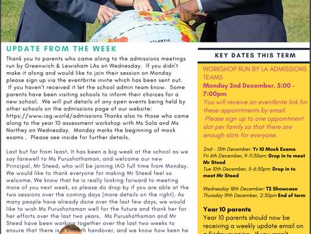 29th November - IAG Weekly Newsletter