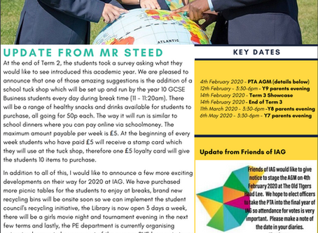 17th January 2020 - IAG Weekly Newsletter