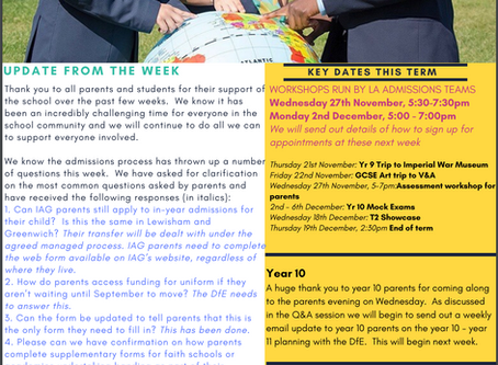 15th November - IAG Weekly Newsletter