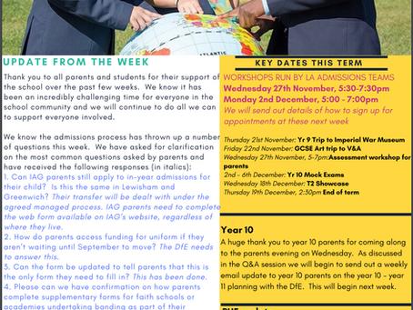 15th November - IAG Weekly Newsletter