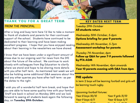 18th October 2019 - IAG Weekly Newsletter