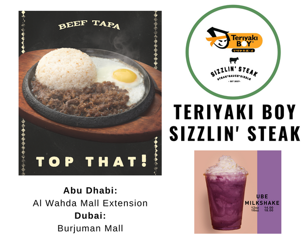 Teriyaki Boy Sizzlin Steak