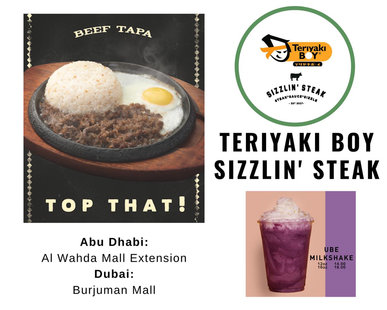 Teriyaki Boy Sizzlin Steak