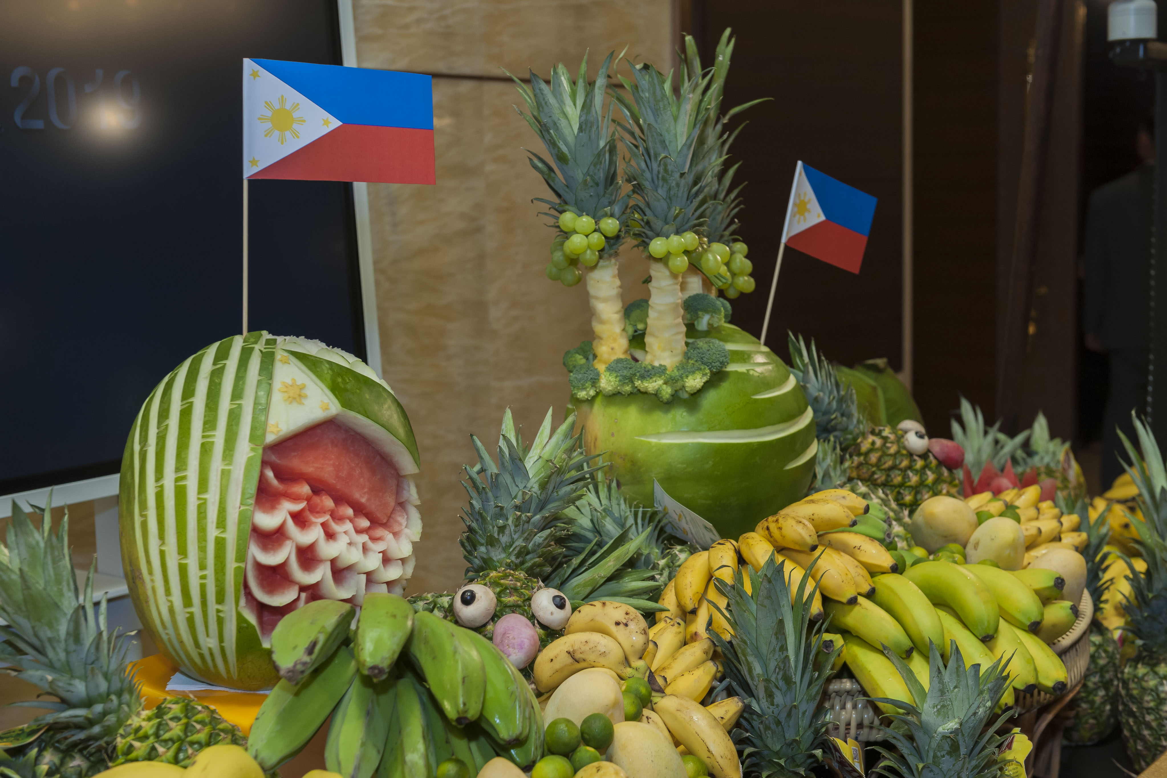 Filfood Fest Launch Filipino Produce Display by Fresh Harvest