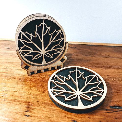 Maple Leaf Coaster Set