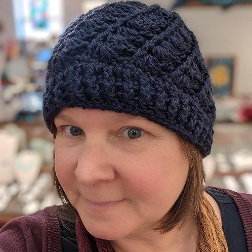 Navy Crocheted Hat