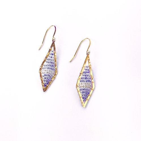 Blue Crystal Wrap Earrings