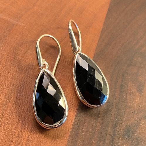 Faceted Onyx Earrings
