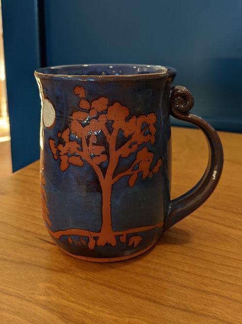 Blue Tree Moon Mug