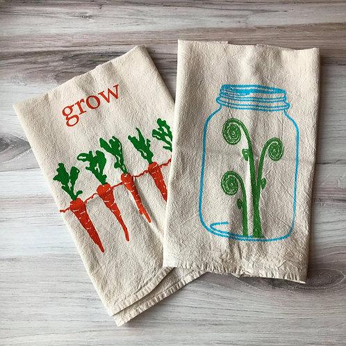 Handprinted Tea Towels