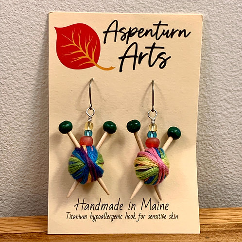 Knitter Earrings