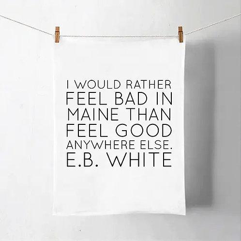 E.B. White Tea Towel