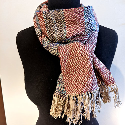 Multi Colored Woven Scarf