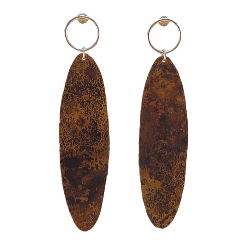 Copper Ellipsem Earrings