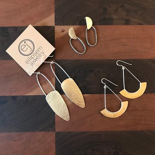 Ellipsem Shield Earrings