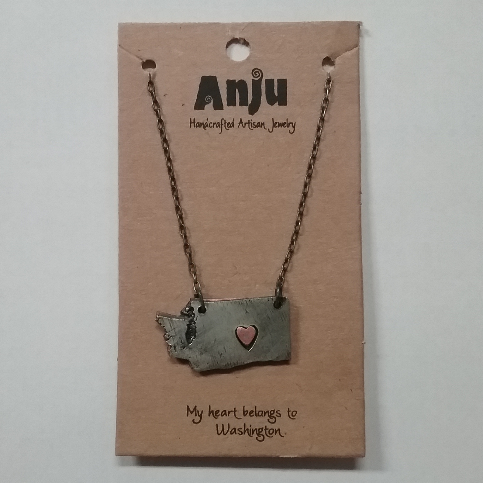 WA Pewter Necklace
