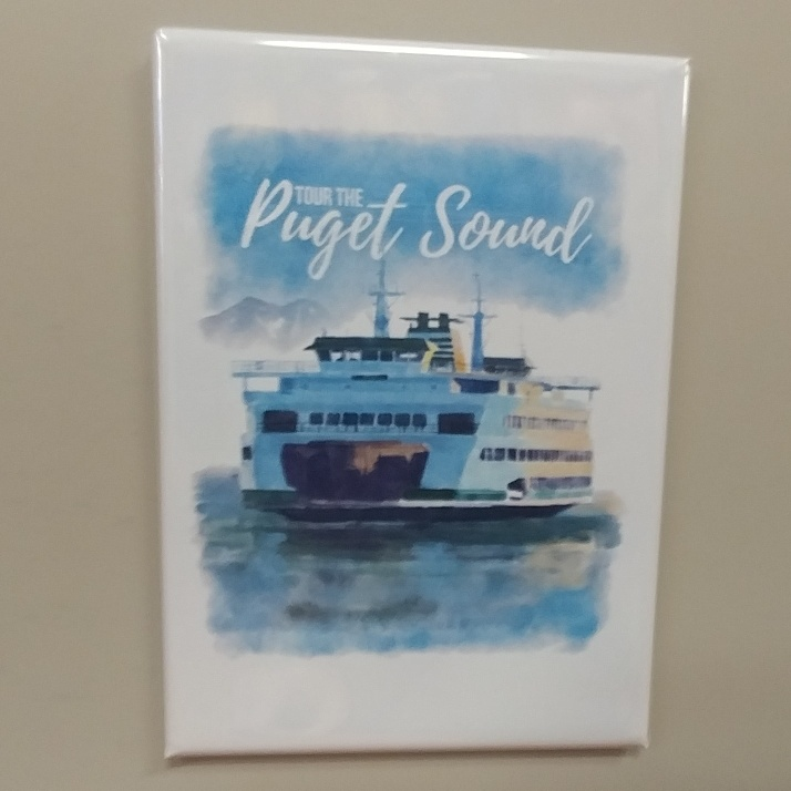 Puget Sound Ferry Magnet