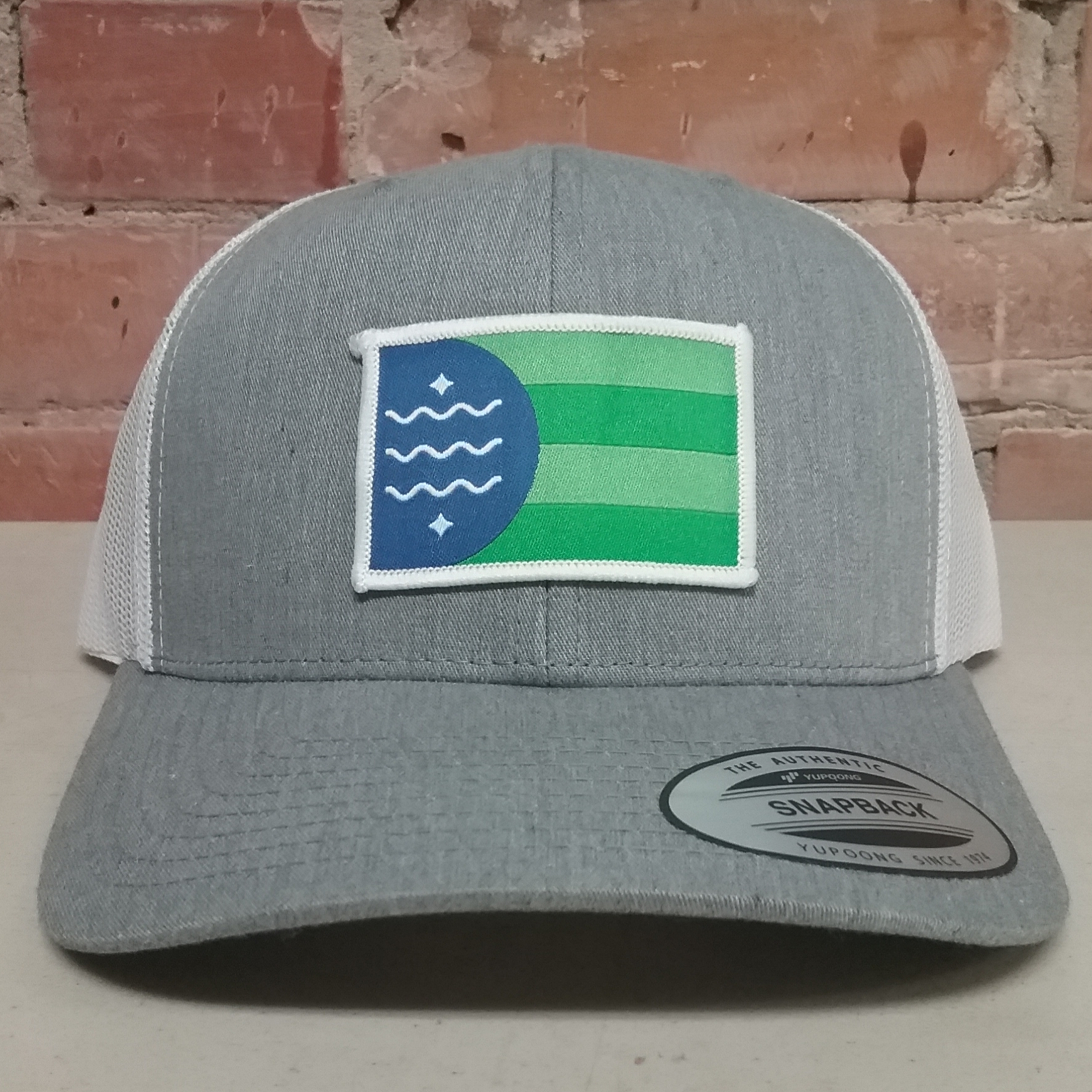 Bellingham Flag Retro Trucker