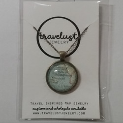 Bellingham Map Circle Necklace