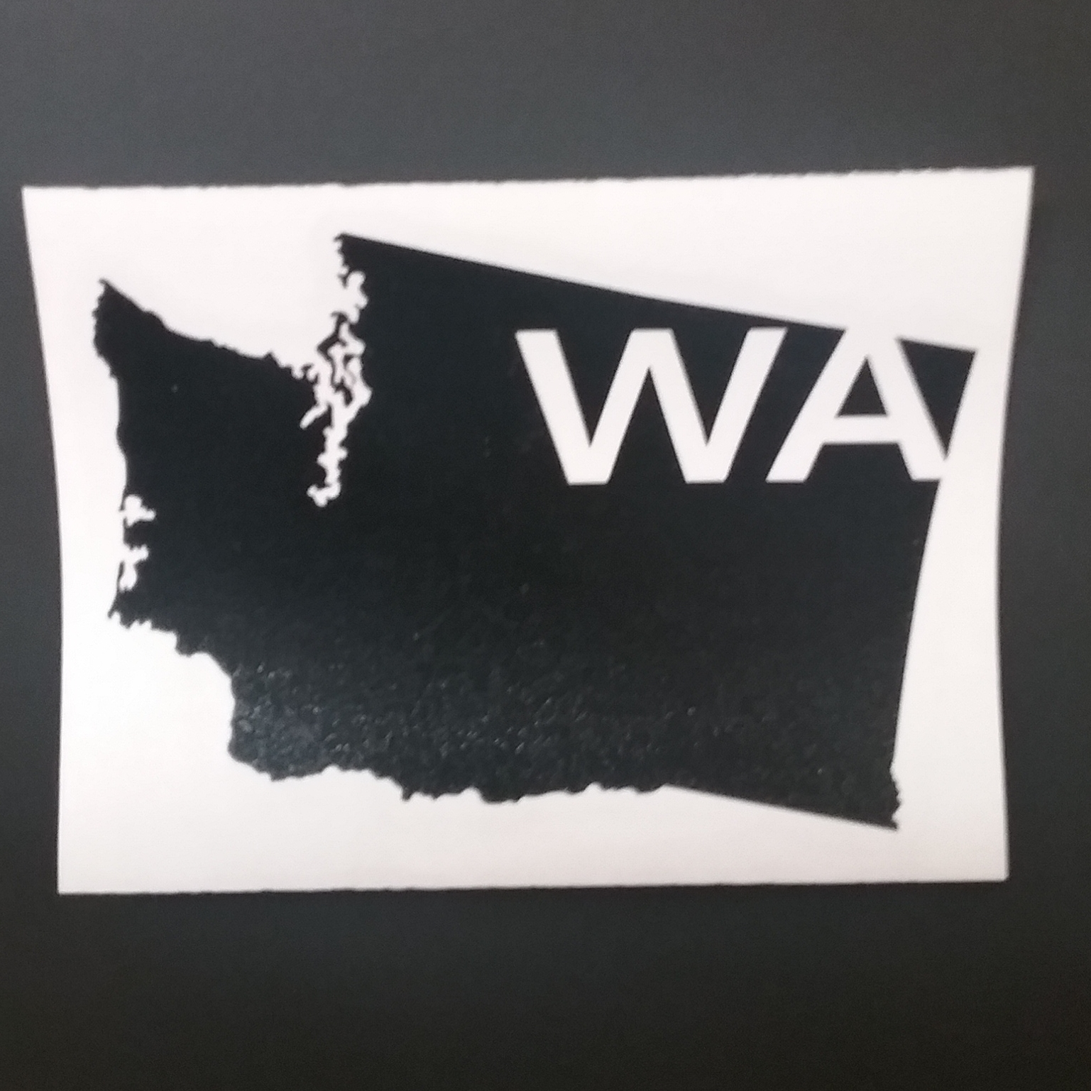 Washington Map Vinyl