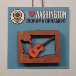 WA Guitar Diorama Ornament