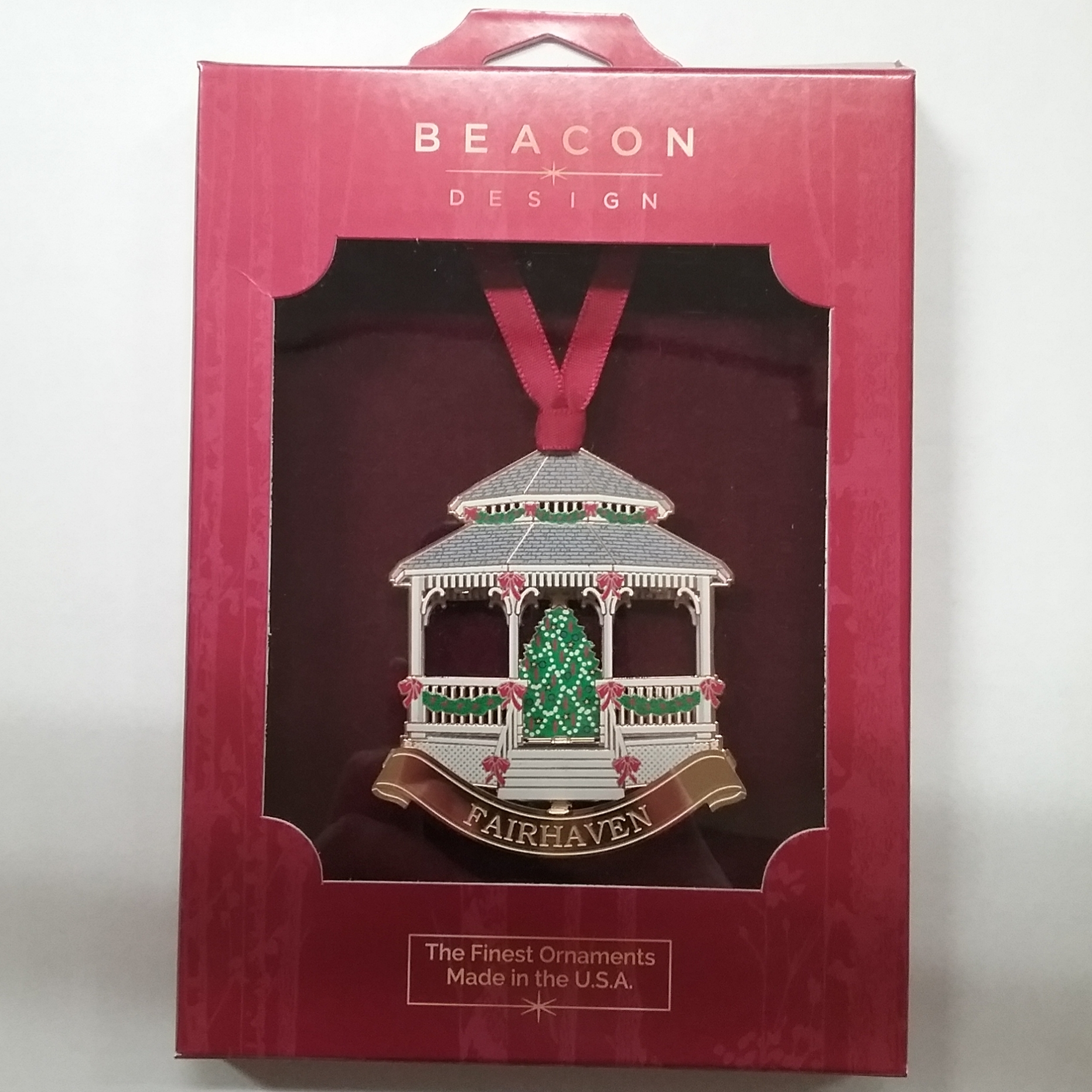 Fairhaven Gazebo Brass Ornament