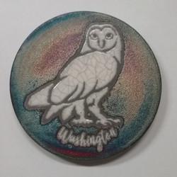 Raku Coaster Owl