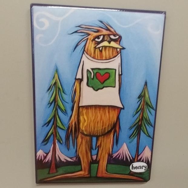 Sasquatch WA Shirt Magnet