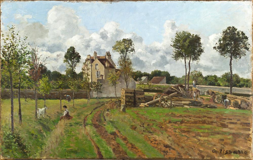 Pissaro, 'Allee de la Tour-du-Jongleur et aison de M Musy'