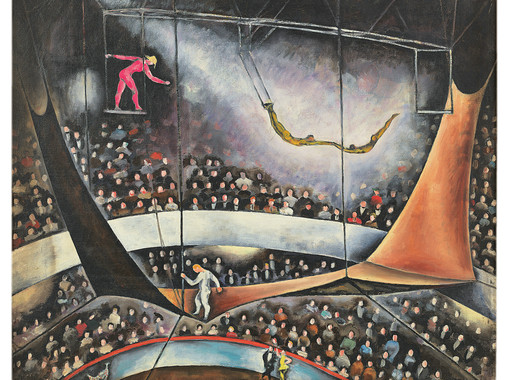 The Flying Trapeze, 1925, oil on canvas