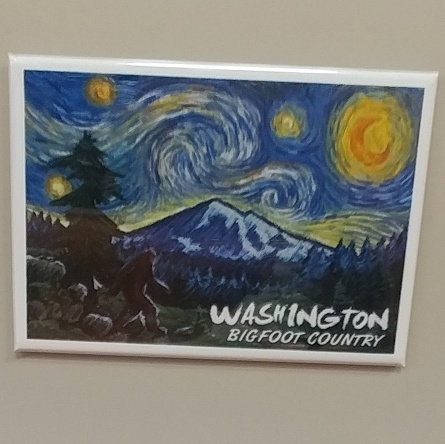 Bigfoot Starry Night Magnet