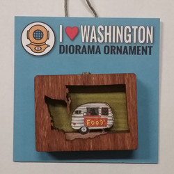 WA Food Cart Diorama Ornament