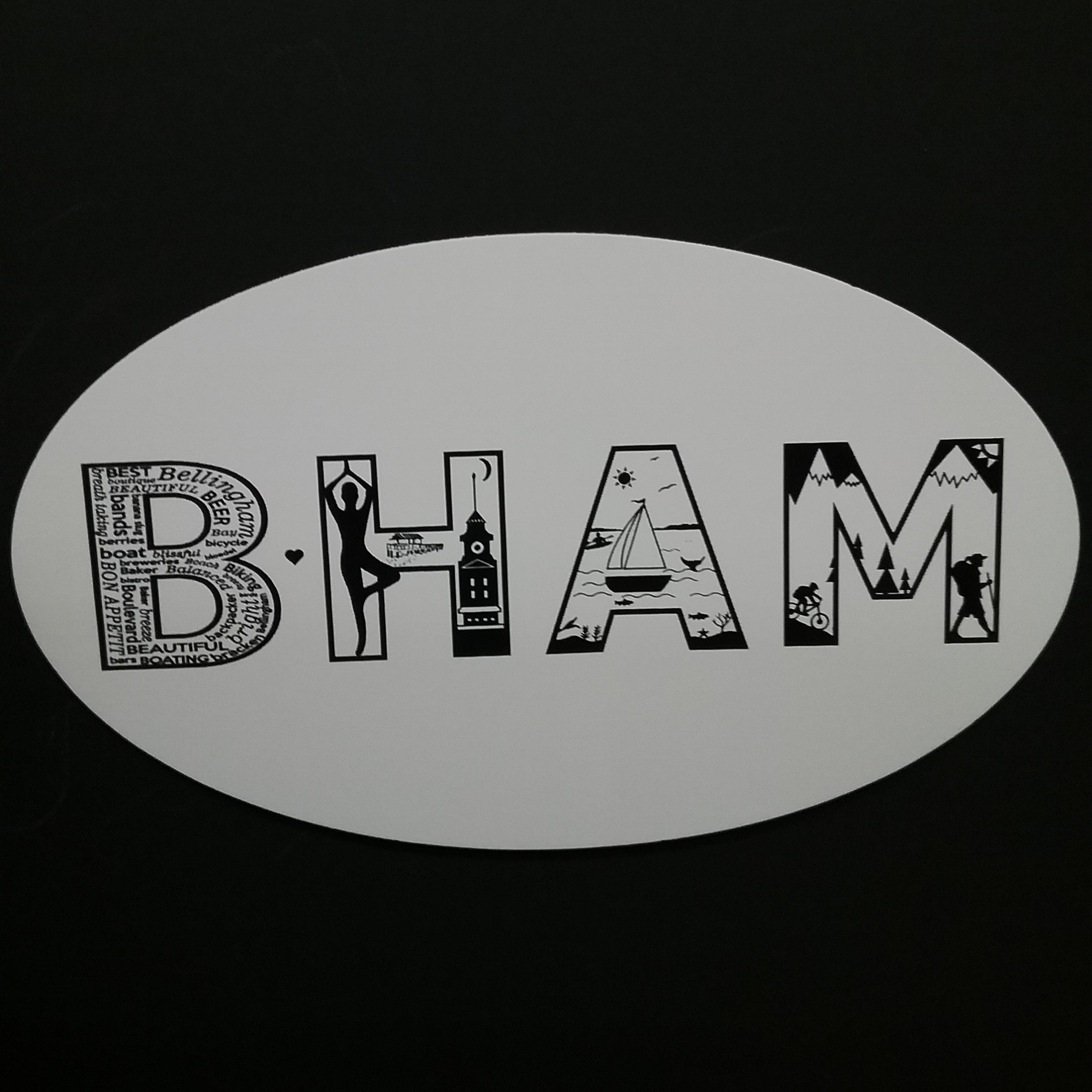 BHAM Oval Scenic Sticker