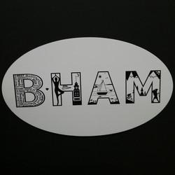 BHAM Oval Scenic Sticker