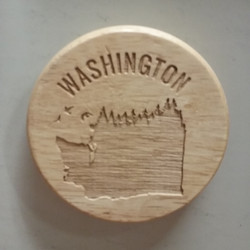 WA Trees Bottle Opener Magnet