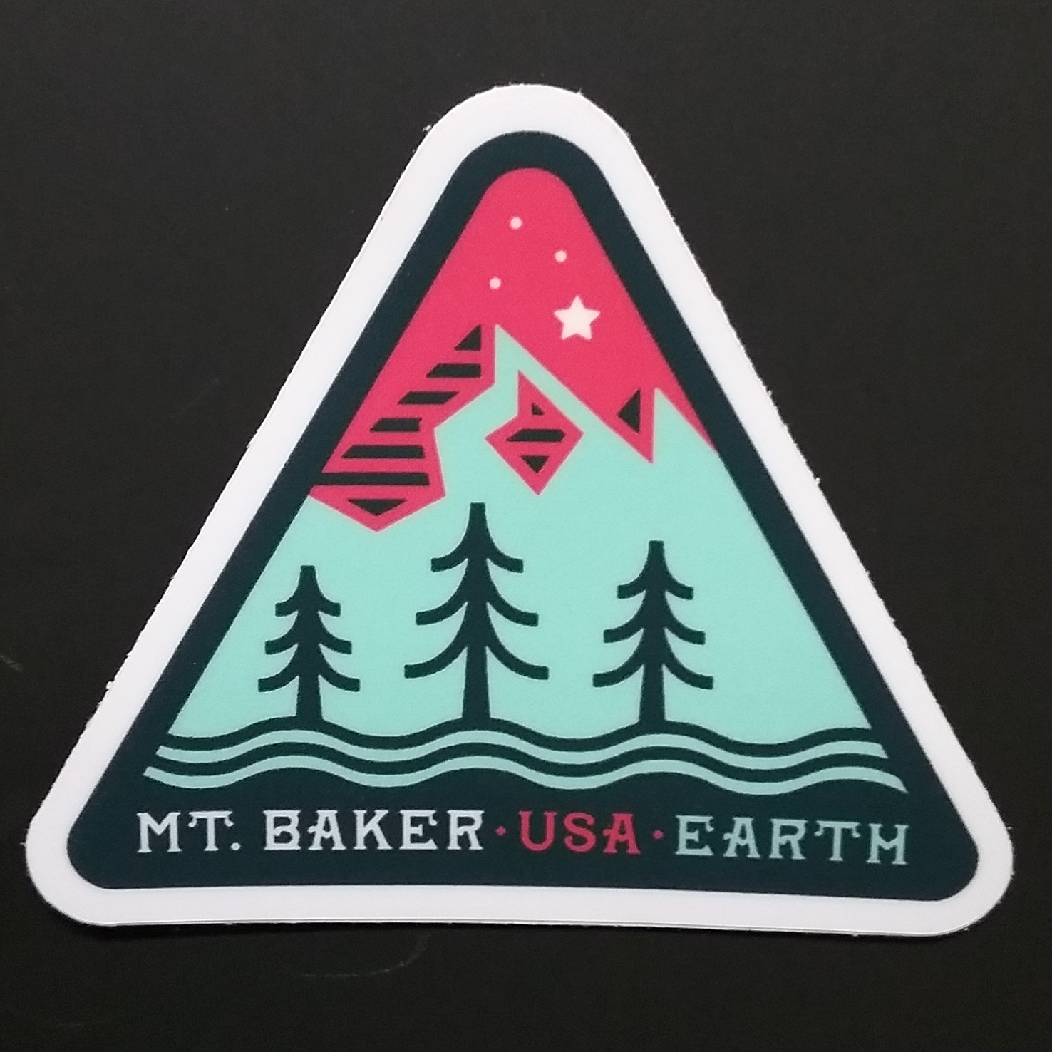 Mt. Baker Triangle Sticker