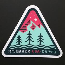 Mt. Baker Triangle Sticker