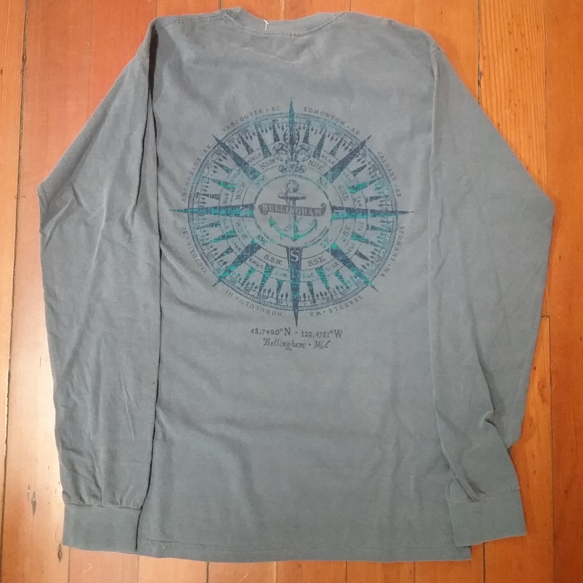 Mens Anchor Compass LS