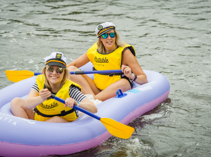 INFLATABLE REGATTA CRUISES DOWN MELBOURNE'S RIVERS
