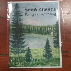 Tree Cheers Birthday Card