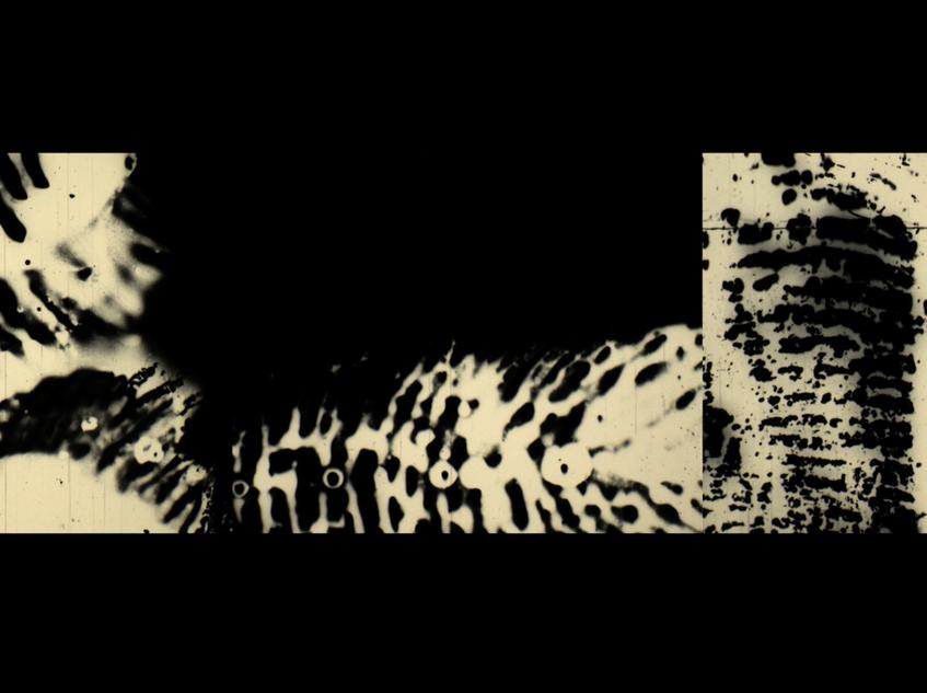 'Opaquing', video still shot, 16mm film